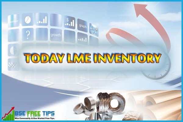 Today LME Inventory Data Repotr Update